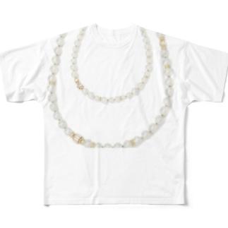 パールネックレス Full graphic T-shirts