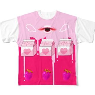 天使の血液ジュースTシャツ Full graphic T-shirts
