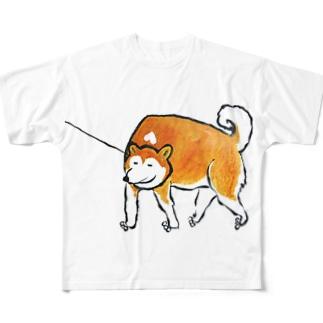 さんぽ Full graphic T-shirts