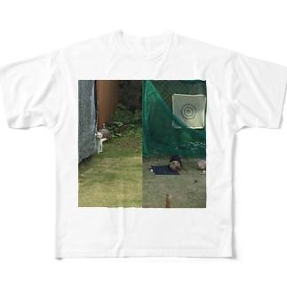 にゃんお Full graphic T-shirts