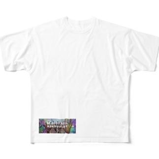 話しかけてくれたら 何かお手伝いします Full graphic T-shirts