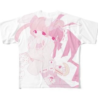 【ほぼ復刻】月におみやげ Full graphic T-shirts