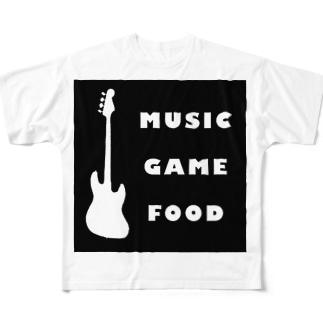 三大要素(黒) Full graphic T-shirts