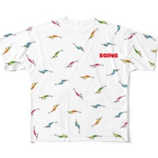 エギ【ルアー柄Tシャツ】 Full graphic T-shirts
