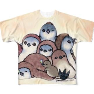 もふもフンボ(ヒナ) Full graphic T-shirts