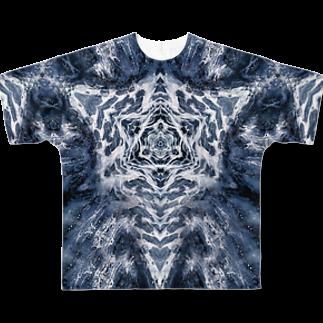 momenkoTWの波模様/カラー03 Full graphic T-shirts