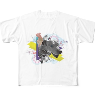 ダサい t シャツ「犬」 Full graphic T-shirts