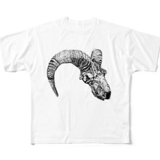 骨骨Tシャツ Full graphic T-shirts