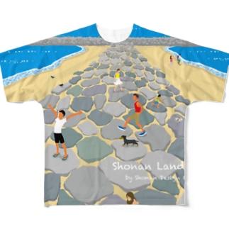 湘南ランドスケープ05:茅ケ崎ヘッドランド Full graphic T-shirts