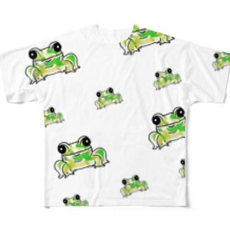 カエルの集い🐸 Full graphic T-shirts