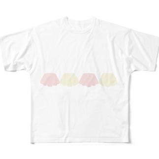 ババロア Full graphic T-shirts