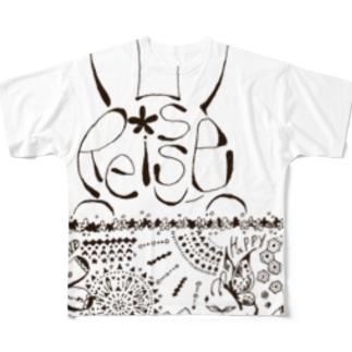 リシュー×しばお Full graphic T-shirts