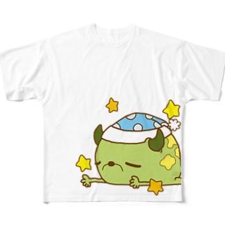 睡眠欲 Full graphic T-shirts
