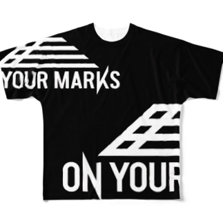 On Your Marks Tシャツ Full graphic T-shirts