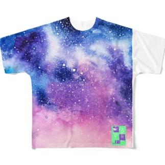 momo_emiのmomo_emi 宇宙2 All-Over Print T-Shirt