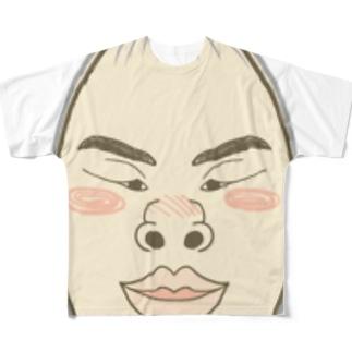 ストッキング顔 Full graphic T-shirts