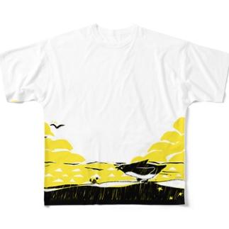 ペンギンとカニ All-Over Print T-Shirt