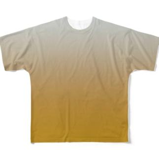 グラデーション Dozing Little Gold Full graphic T-shirts