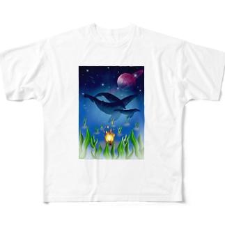 海は宇宙 Full graphic T-shirts