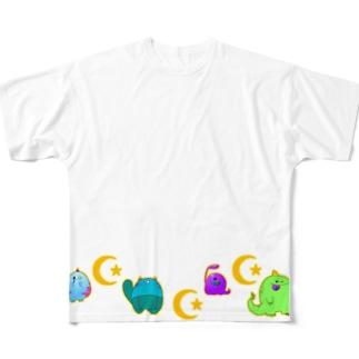 もんしゅたず Full graphic T-shirts