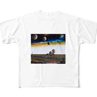 イングランド湿地帯 Full graphic T-shirts