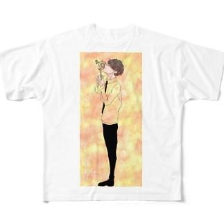 どこへも行かないでおくれ Full graphic T-shirts