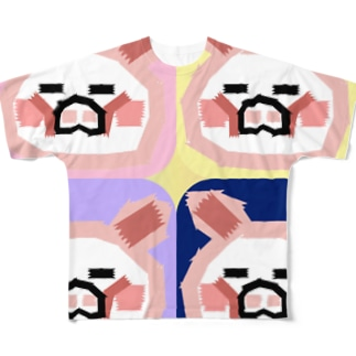 ブタブタレインボーテープ Full graphic T-shirts