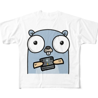 Camera Gopher Full graphic T-shirts