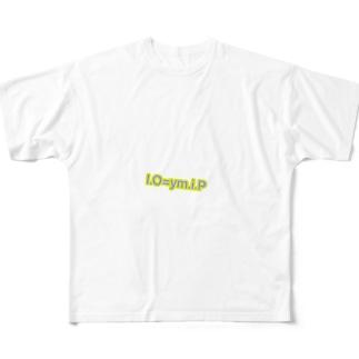 io=ymip Full graphic T-shirts