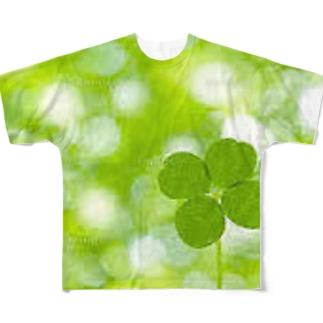 四つ葉のクローバー Full graphic T-shirts