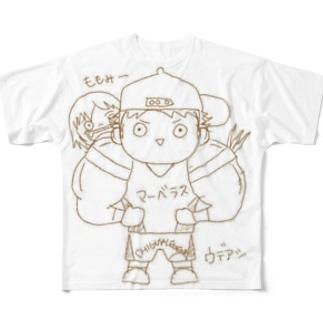 長与 千種 Chigusa Nagayoのウデアシ桃 Full graphic T-shirts