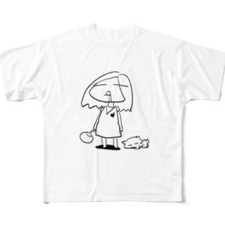 だるだる夏休み Full graphic T-shirts