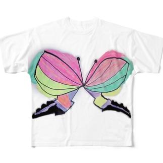 はるの ちょうちょ Full graphic T-shirts