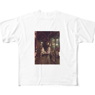 RAIMOON  中華街の素敵な一枚 Full graphic T-shirts