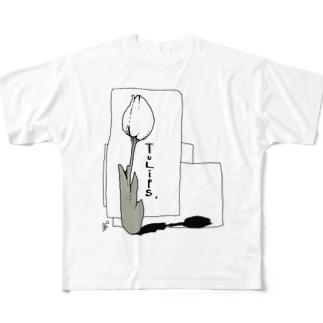 チューリップ。 Full graphic T-shirts