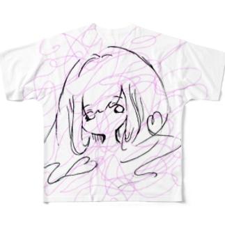 ラブリーハートあいどる Full graphic T-shirts