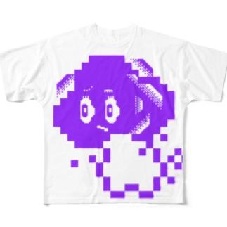 唐揚げ豆腐くん Full graphic T-shirts