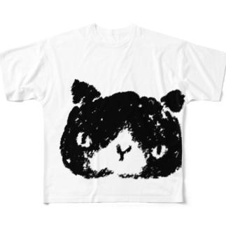 シロクロぬこ Full graphic T-shirts