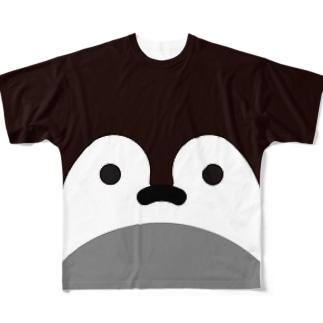 コウテイペンギンのひな Full graphic T-shirts