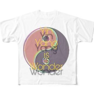 陰陽は不思議✨ Full graphic T-shirts