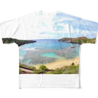 ハナウマ湾 Full graphic T-shirts