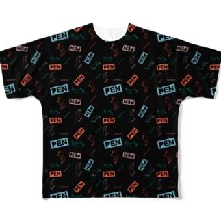 ペンギンのビリー Full graphic T-shirts