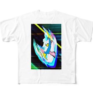 宇宙を旅してきた猫、猫マン Full Graphic T-Shirt