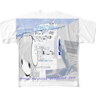 ゆらゆ⠑と卣礼てゐ々⠙⠙⠙ Full graphic T-shirts