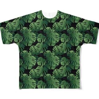 南国バカンス気分なモンステラ。 Full graphic T-shirts