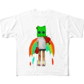 殺し屋猫くん Full graphic T-shirts