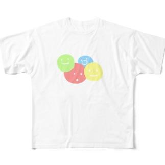 まるっまる Full graphic T-shirts