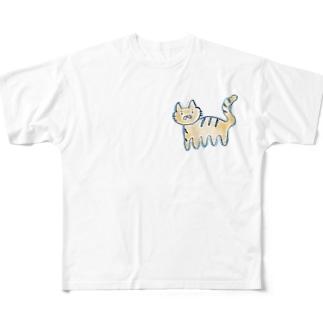 あしのおおいねこ Full graphic T-shirts