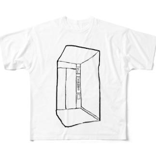 空っぽエレベーター Full graphic T-shirts