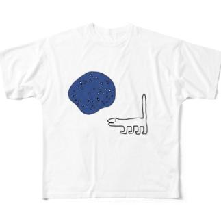 濁った池とコモドドラゴン Full graphic T-shirts